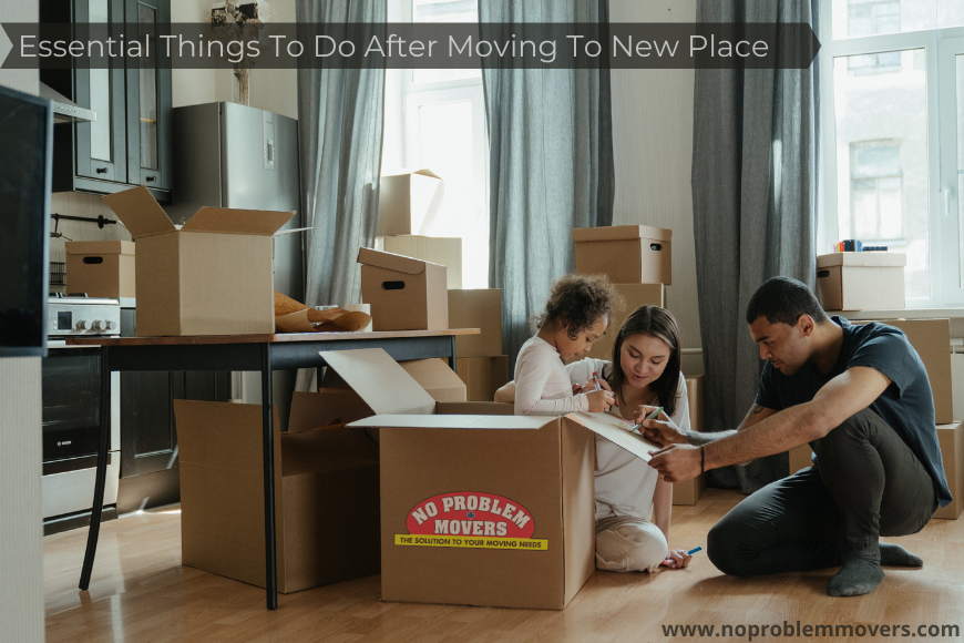 Things to do after moving